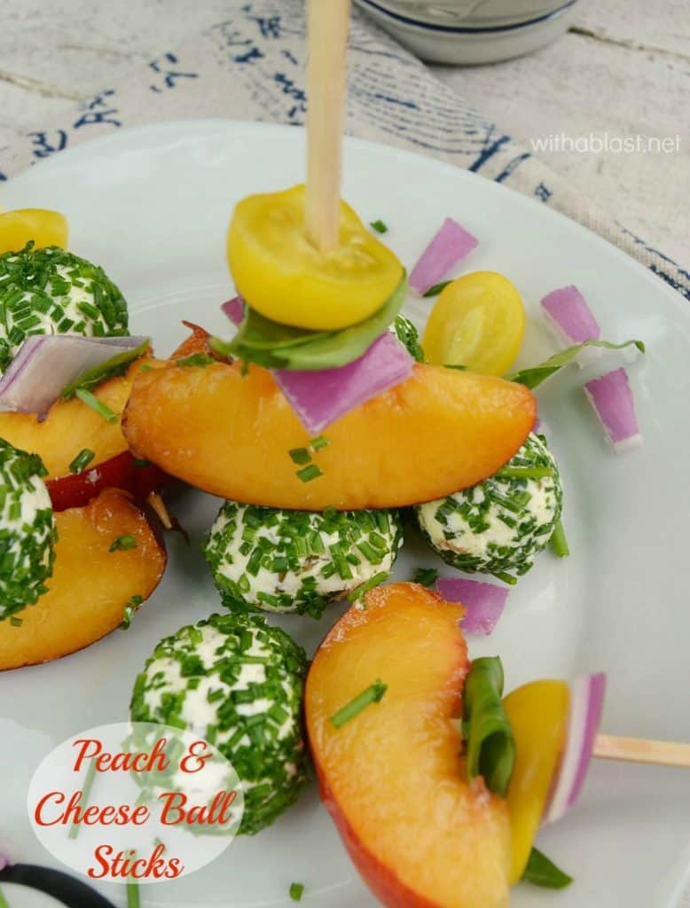 An Appetizer or snack on a stick is always a winner and these are absolutely divine !