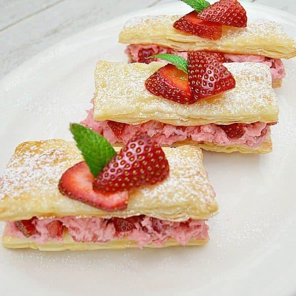 Strawberry Cream Pastries