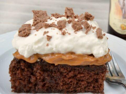 Amarula Chocolate Caramel Cake With A Blast