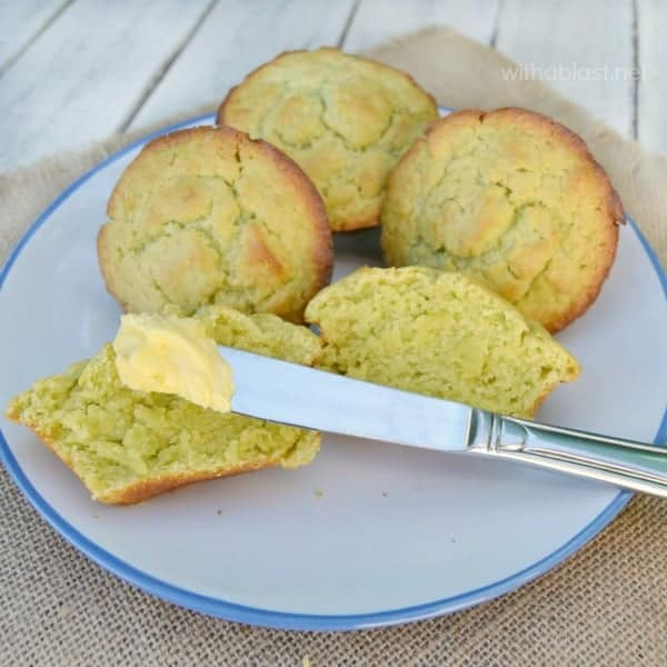 BEST Avocado Muffins are ideal for breakfast, brunch, lunch or a tea-time treat ! All that's needed is a bit of Butter and you are set ! #AvocadoMuffins #HealthyMuffins #MuffinRecipe #BrunchMuffins #LunchBoxTreat