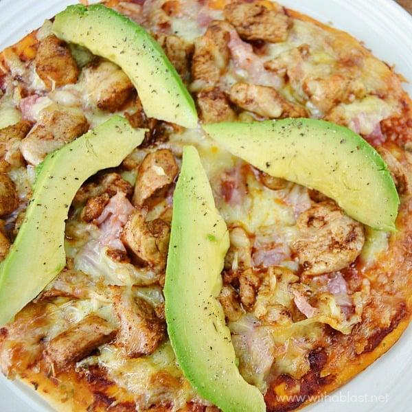 Chicken Bacon and Avocado Pizza