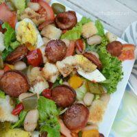 Chorizo Egg and Bean Salad