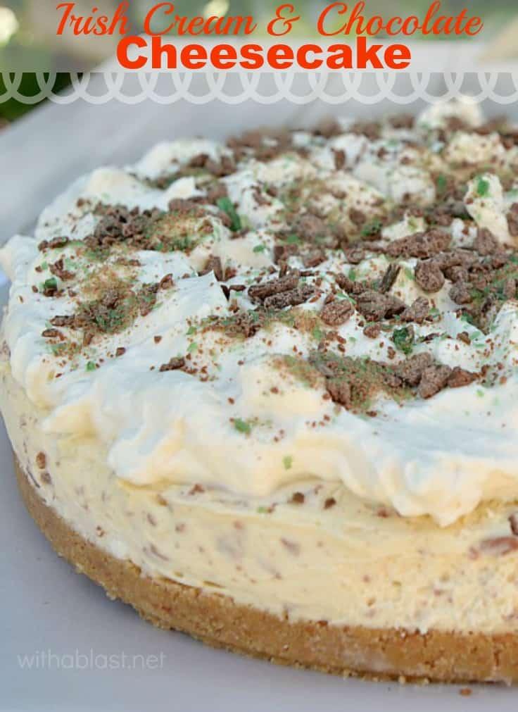 Irish Cream and Chocolate Cheesecake