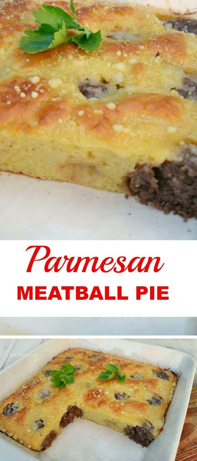 Parmesan Meatball Pie