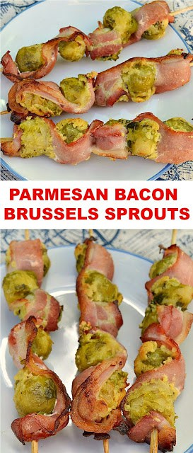 Turn your Brussels Sprouts haters into new fans with only 3 extra ingredients ~ These Parmesan Bacon Brussels Sprouts are great as an appetizer or side dish ~ many ways to cook them !