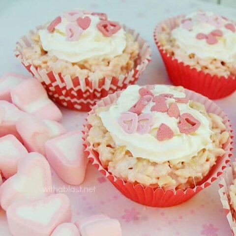Rice Krispie Cupcakes (Valentine's Day)