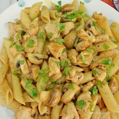 Spicy Chicken and Mushroom Pasta