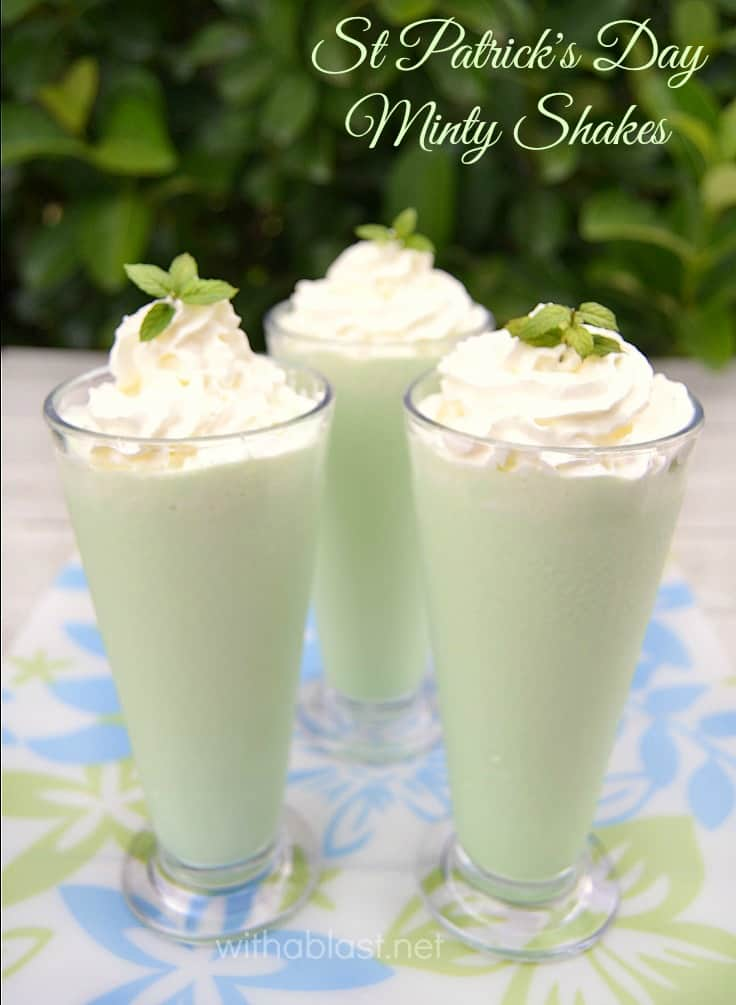 St Patrick's Day Minty Shakes