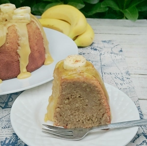 Banana Caramel Cake is a dense, moist cake and so decadent with the 3 ingredient Caramel topping ! Perfect dessert or tea time treat