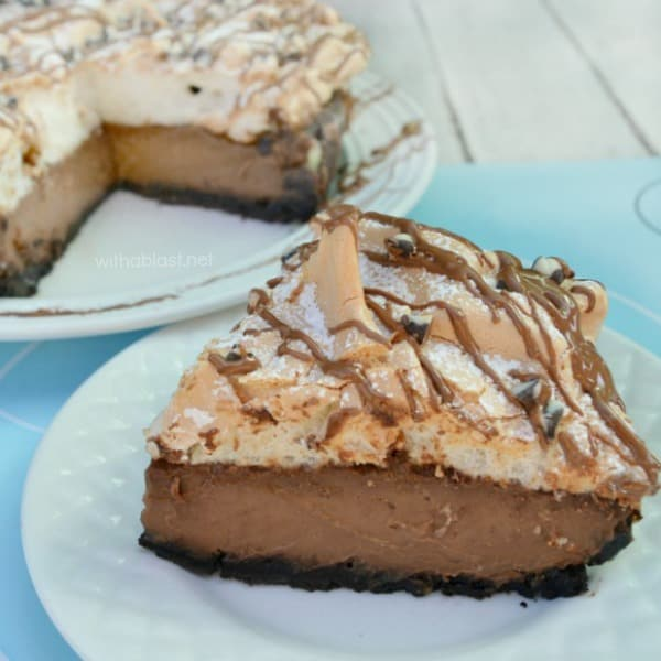 Chocolate Meringue Pie has a smooth, silky, almost ganache-like filling with a bit of an unusual, divine Meringue topping - so easy to make!