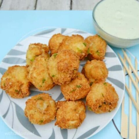 Crumbed Mushrooms with Blue Cheese Sauce