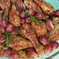 Grape and Red Onion Chicken Drumsticks