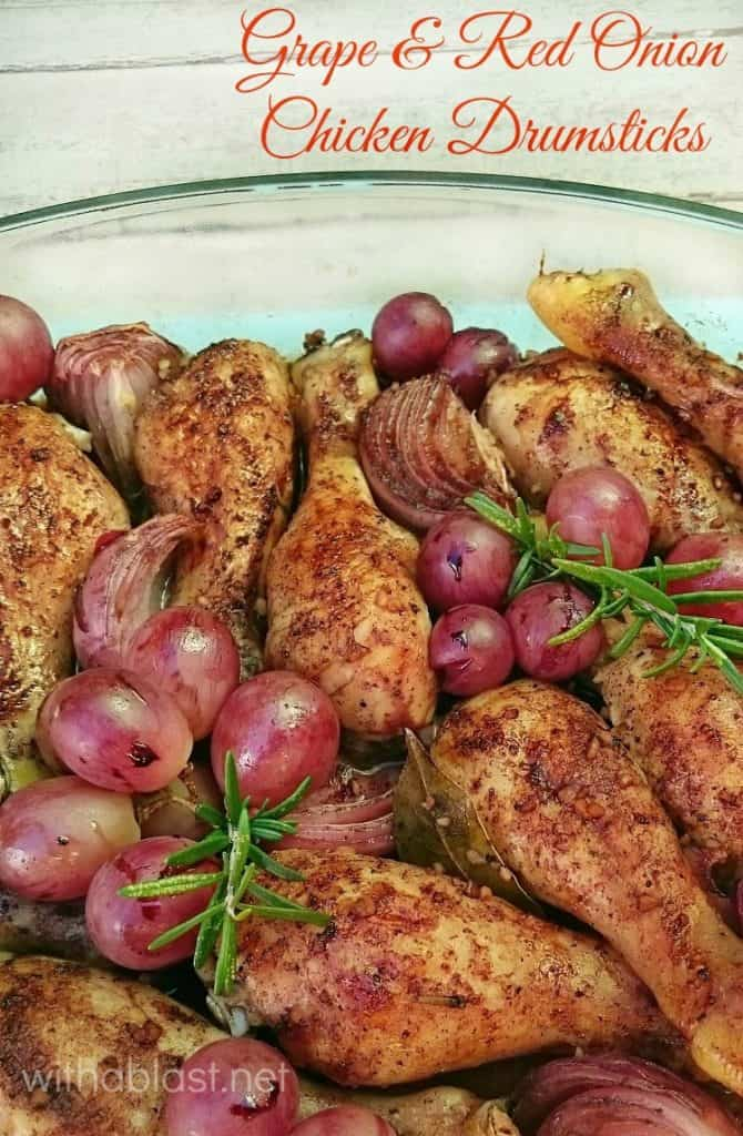 Delicious, quick & easy Grape and Red Onion Chicken {tender & juice!} ~ perfect for a busy night dinner