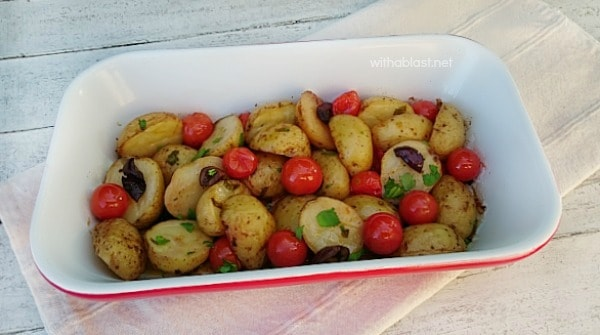 Mediterranean Baby Potatoes is bursting with the taste of the Mediterranean - bring this to your home with this scrumptious, easy Baby Potato dish !