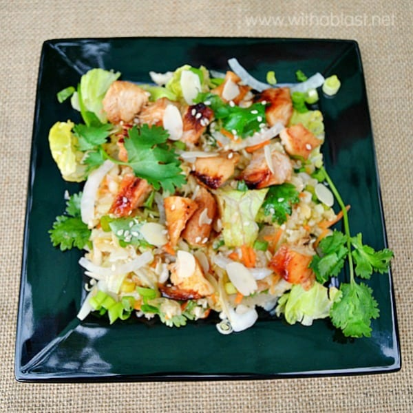Thai Chicken Salad ~ This Thai Chicken Salad is the perfect lunch or light dinner and you can do all the prepping way in advance !