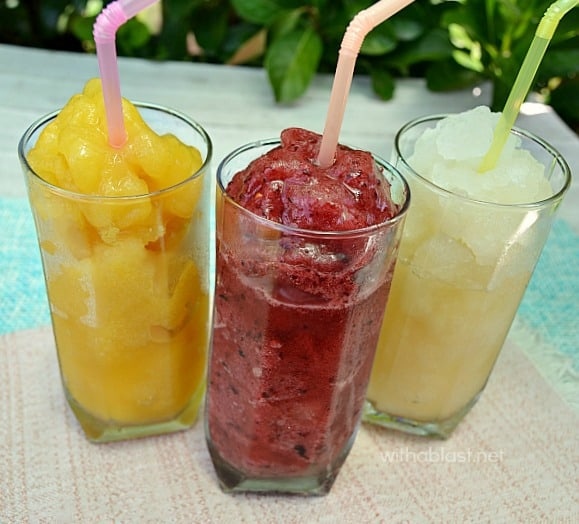 Fresh Fruit and Juice Slush Puppies