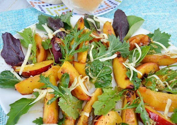 Grilled Nectarine Salad ~ Quick, easy and deliciously refreshing Grilled Nectarine Salad - this salad goes well with just about any main dish !