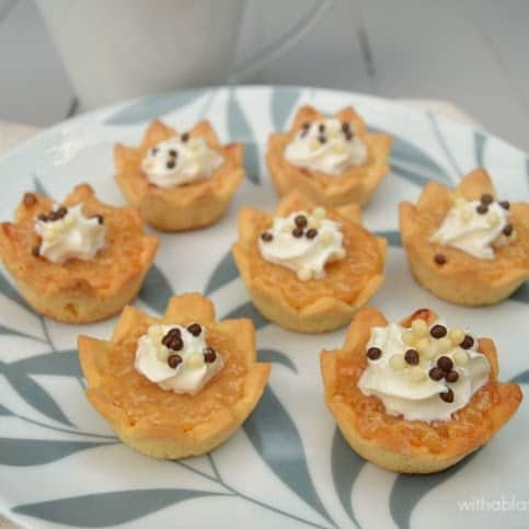 Mini Caramel Pies ~ ONLY 3 Ingredients in this gooey, delicious Caramel filling and it is ready in minutes and so versatile !