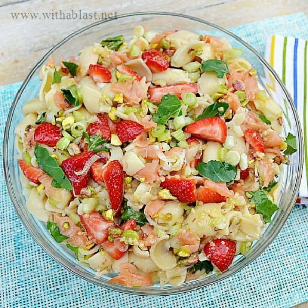 Strawberry and Salmon Pasta Salad
