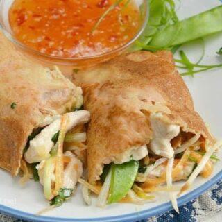 Vietnamese Chicken Filled Pancakes