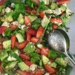 Strawberry Avocado Brie and Peanut Brittle Salad