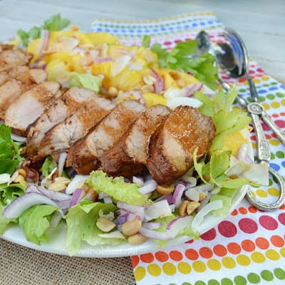 Asian Pork Tenderloin and Pineapple Salad