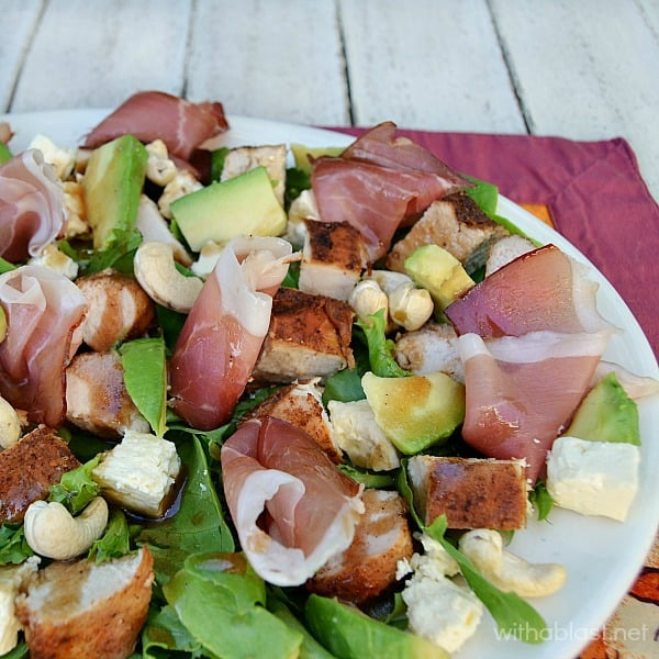 Chicken Parma and Avocado Salad