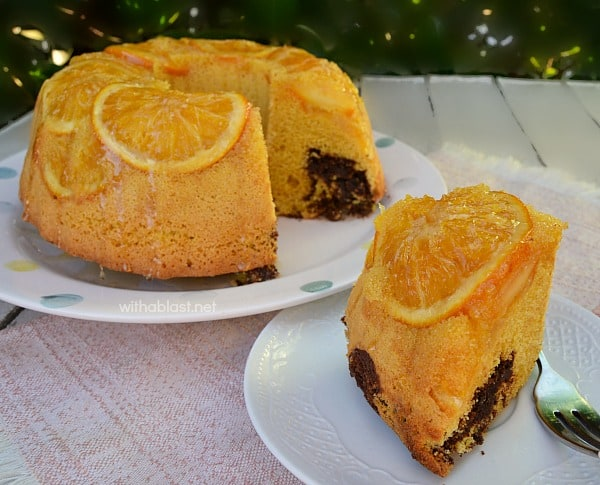 Chocolate Orange Marble Cake is easy to make and so special with the candied, baked-in fresh Orange slices - an all time winner year round