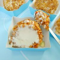 Crusted Honey Ice-Cream Bombs