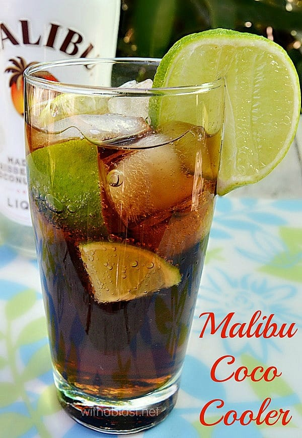Malibu Coco-Cooler is so refreshing and tropical - Bring the island taste to you with this quick and easy cocktail recipe and celebrate Summer the tropical way !