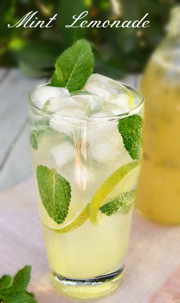 Best recipe for concentrated syrup to make your own Sparkling Mint Lemonade at home. Adults and kids love this and is always a refreshing winner #HomemadeLemonade #MintLemonade #LemonadeConcentrate #LemonadeSyrup