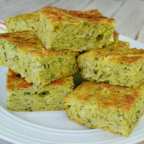 Zucchini And Onion Bars