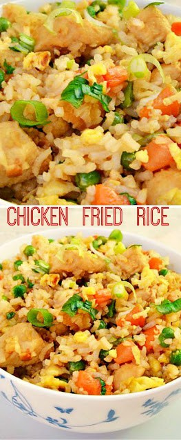 Chicken Fried Rice is perfect for a week night dinner. And if you already have leftover Rice on hand, this dish will be done and on the table in minutes