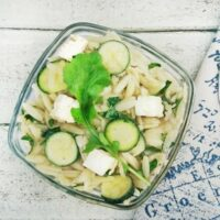 Green Orzo Salad