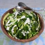 Super Greens with Creamy Feta Dressing