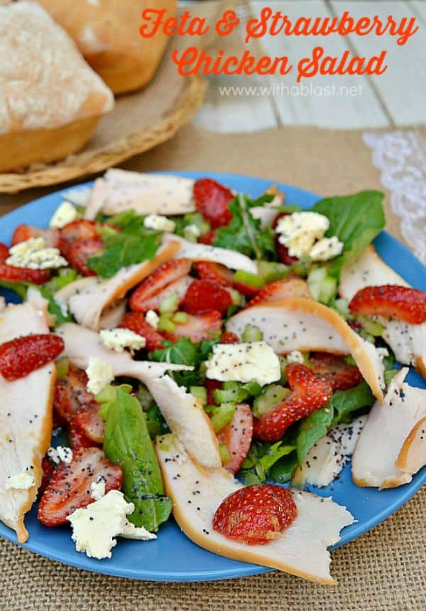 Feta and Strawberry Chicken Salad