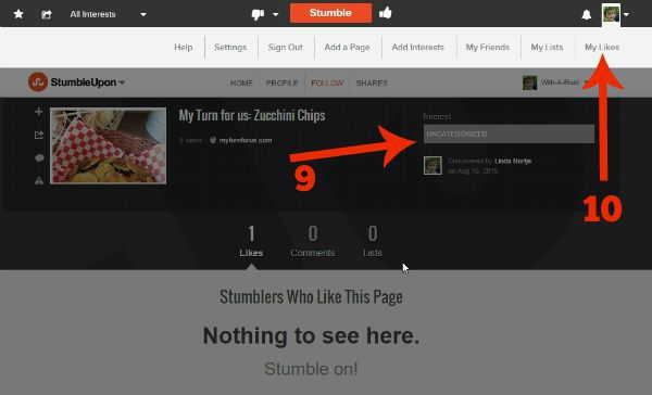 Fix An Incorrect Category On StumbleUpon