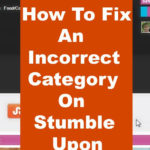 Fix An Incorrect Category on StumbleUpon