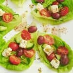 Greek Salad Lettuce Leaves