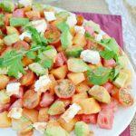 Mixed Melon and Avocado Salad