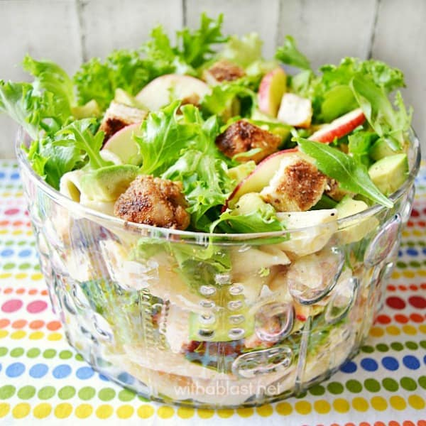Pasta Chicken and Avocado Salad