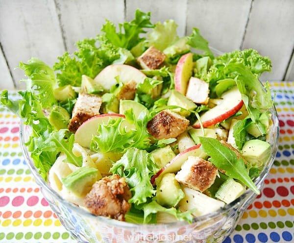 Pasta Chicken and Avocado Salad