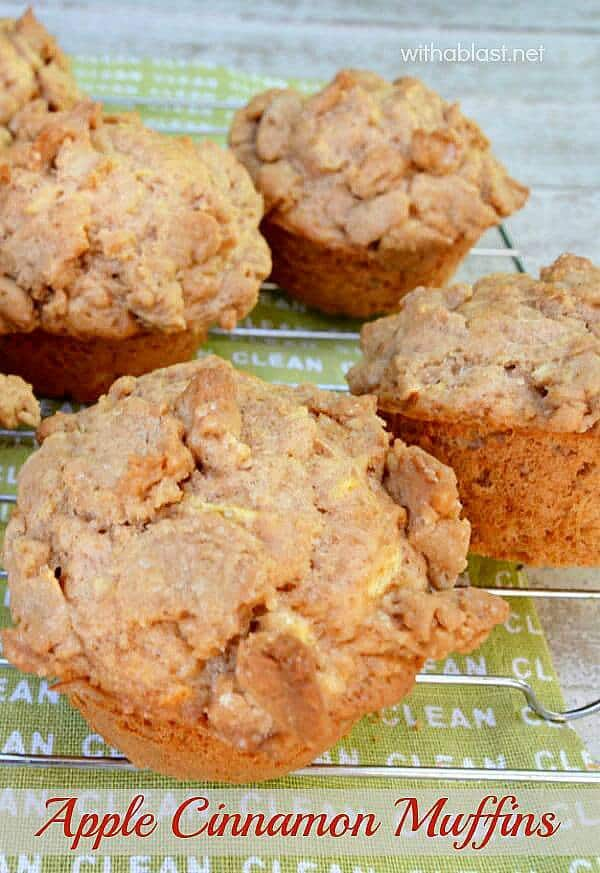 These Apple Cinnamon Muffins have a buttery, soft, light crunch topping which makes them extra special