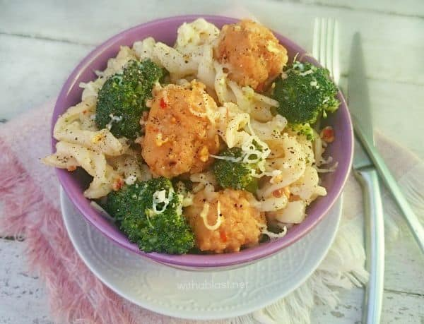 Pork Meatballs and Broccoli Pasta