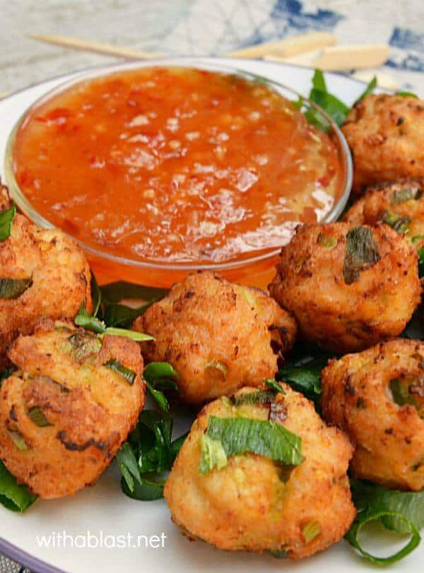 Thai Chicken Nuggets are the perfect snack or appetizer - mix, fry and ready in minutes !