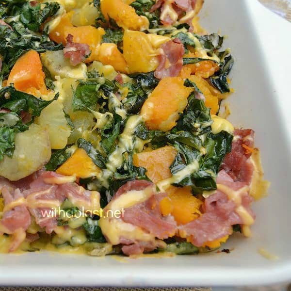 Bacon Butternut and Sweet Potato Casserole