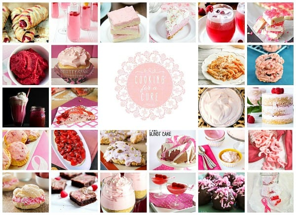 These pink recipes were made with love and honor of Breast Cancer Awareness Month- sweet treats, cold drinks and some savory dishes #BreastCancerAwarenessMonth