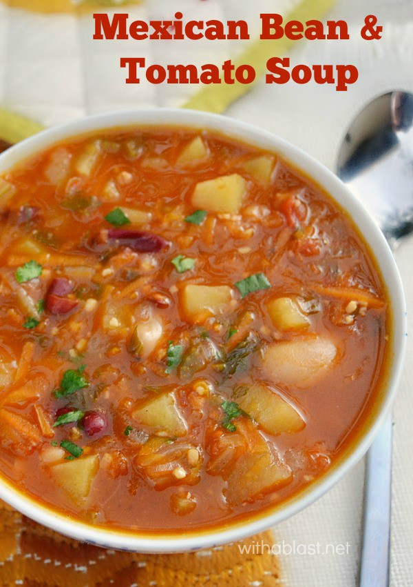 Mexican Bean and Tomato Soup