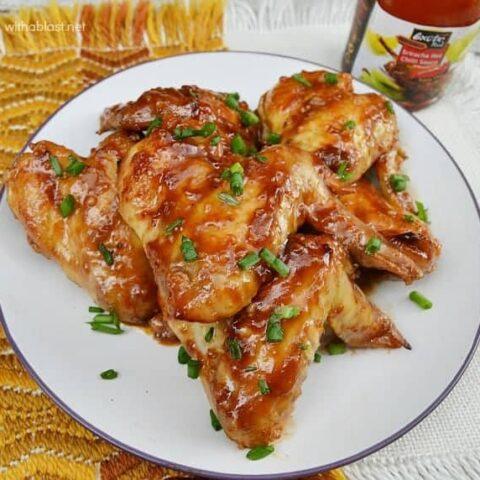 Sticky Honey Chicken Wings