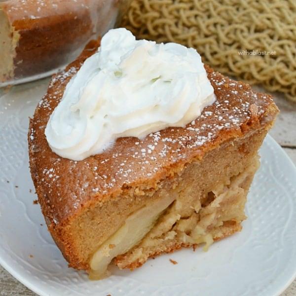 Cinnamon Pear Pancake Cake